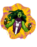 Spraymotiv: SHE-HULK SMASH