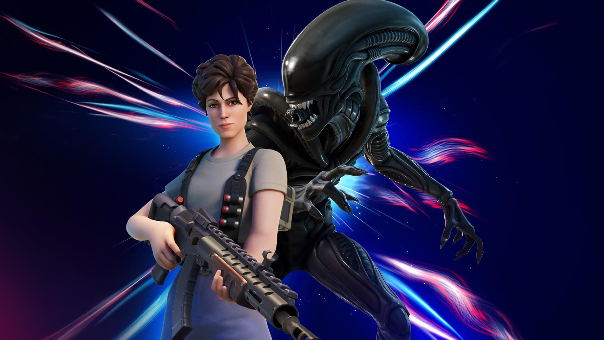 Ripley y Xenomorfo de Fortnite