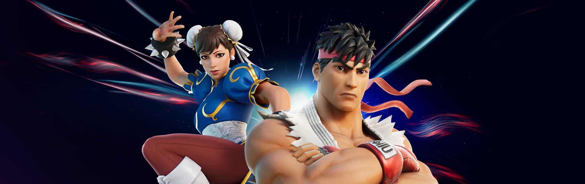Primeira Rodada: Ryu e Chun-Li do Street Fighter se Enfrentam no Fortnite