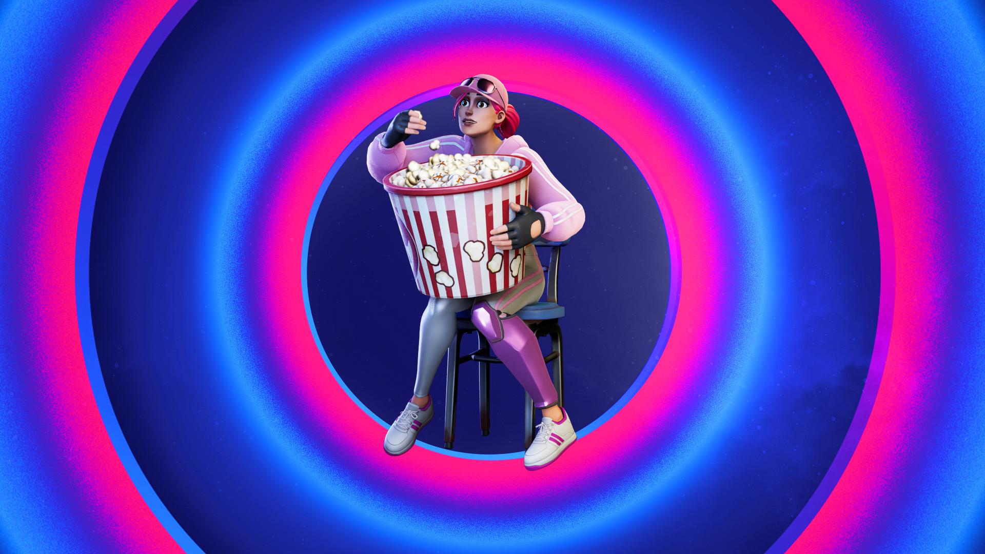 Jumbo Popcorn Emote icon