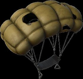 Ala delta Paracaídas agujereado de Lara Croft