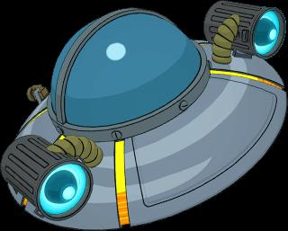 """""""릭의 UFO 크루저"""" 글라이더"""