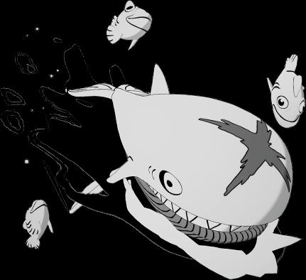 Asa-delta Balão de Baleia do Peixotoon do Fortnite
