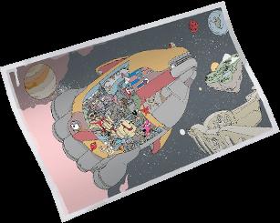 Tela de Carregamento Espaço do Chimpanski do J.B. Chimpanski do Fortnite