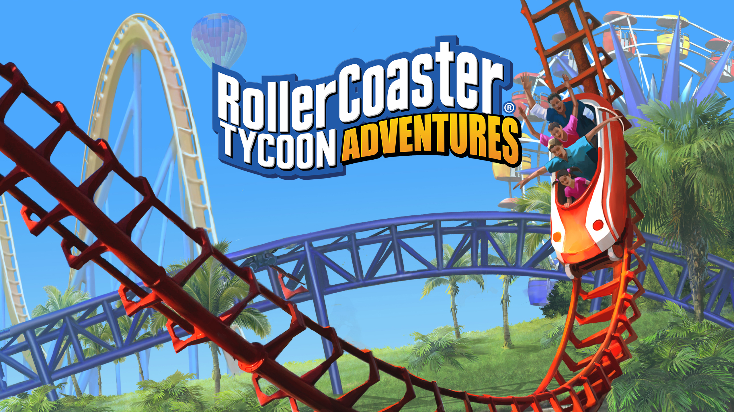 Create The Theme Park Of Your Dreams In 'Roller Coaster Tycoon Adventures'. Available Now!