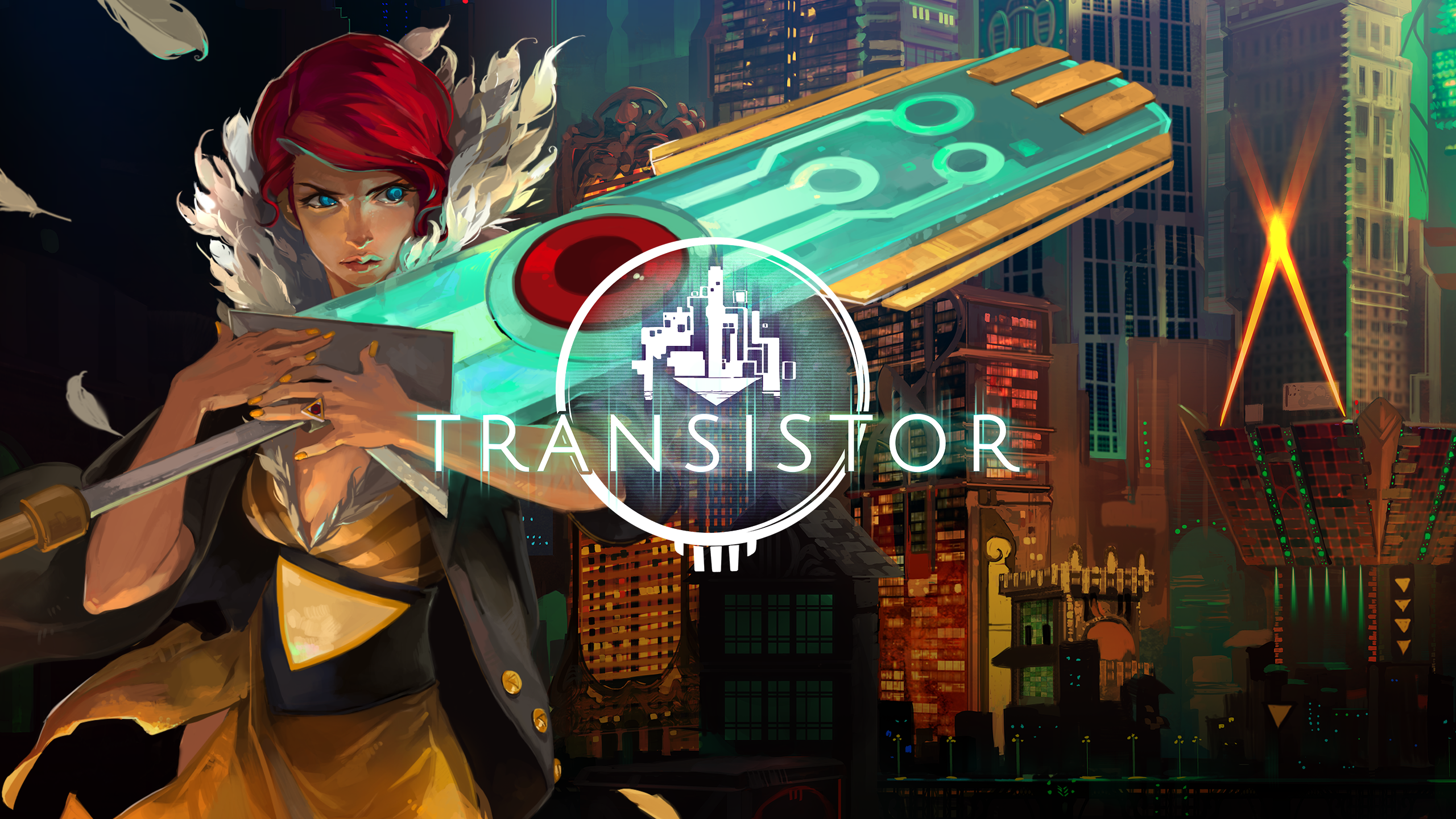 Title Screen from Transistor