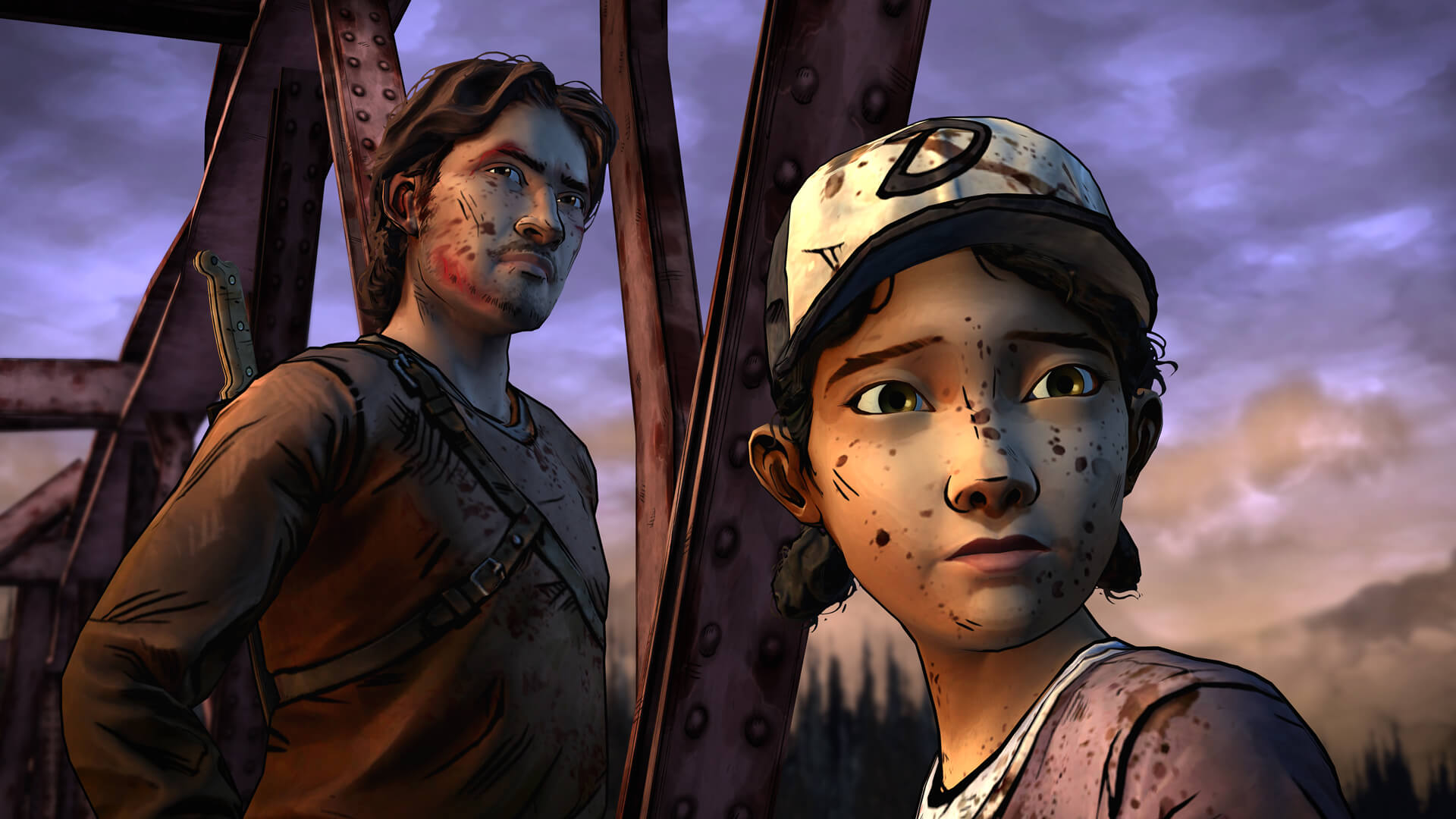 Luke and Clementine from The Walking Dead Season Two