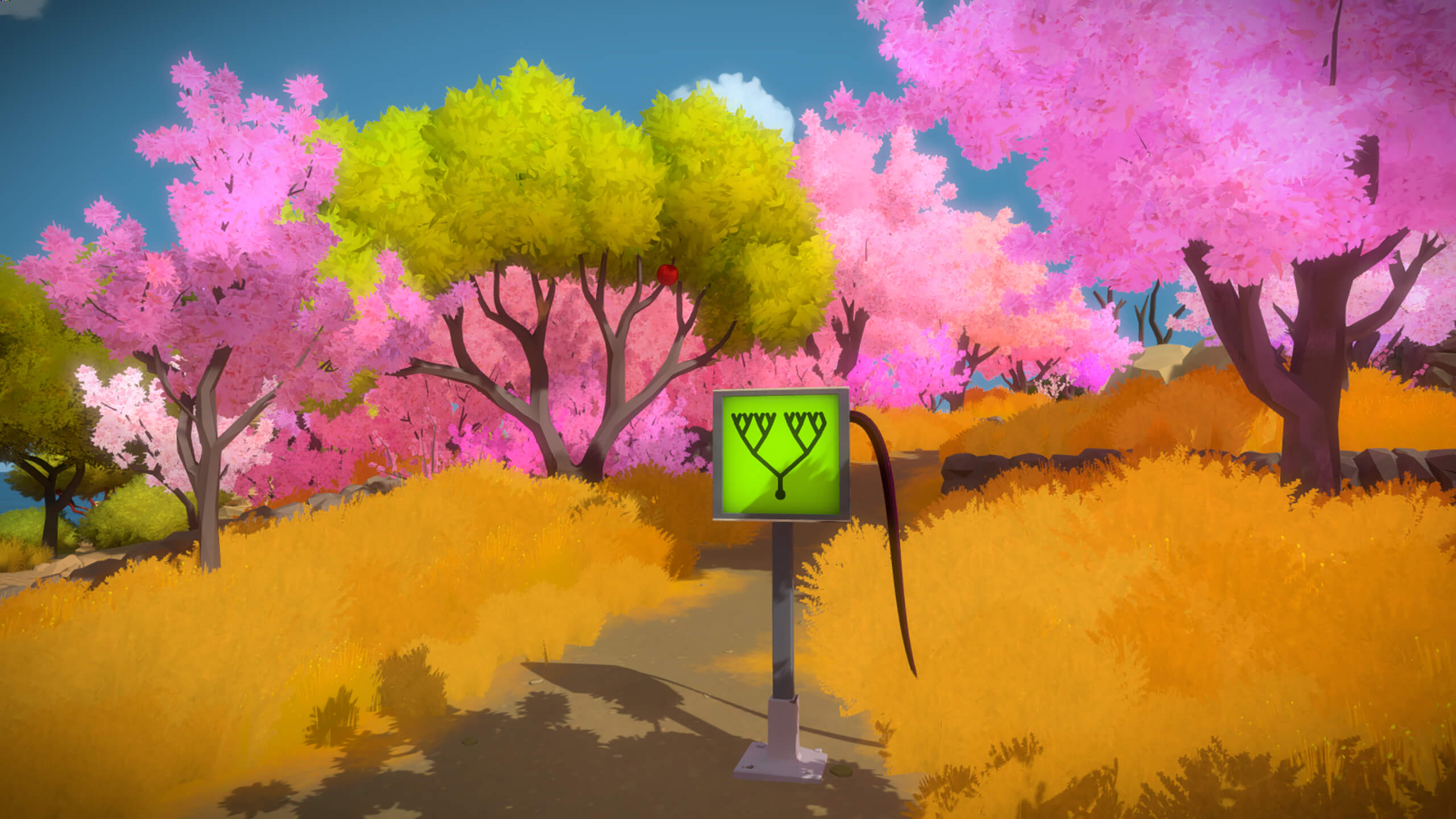 A puzzle interface presented in the witness