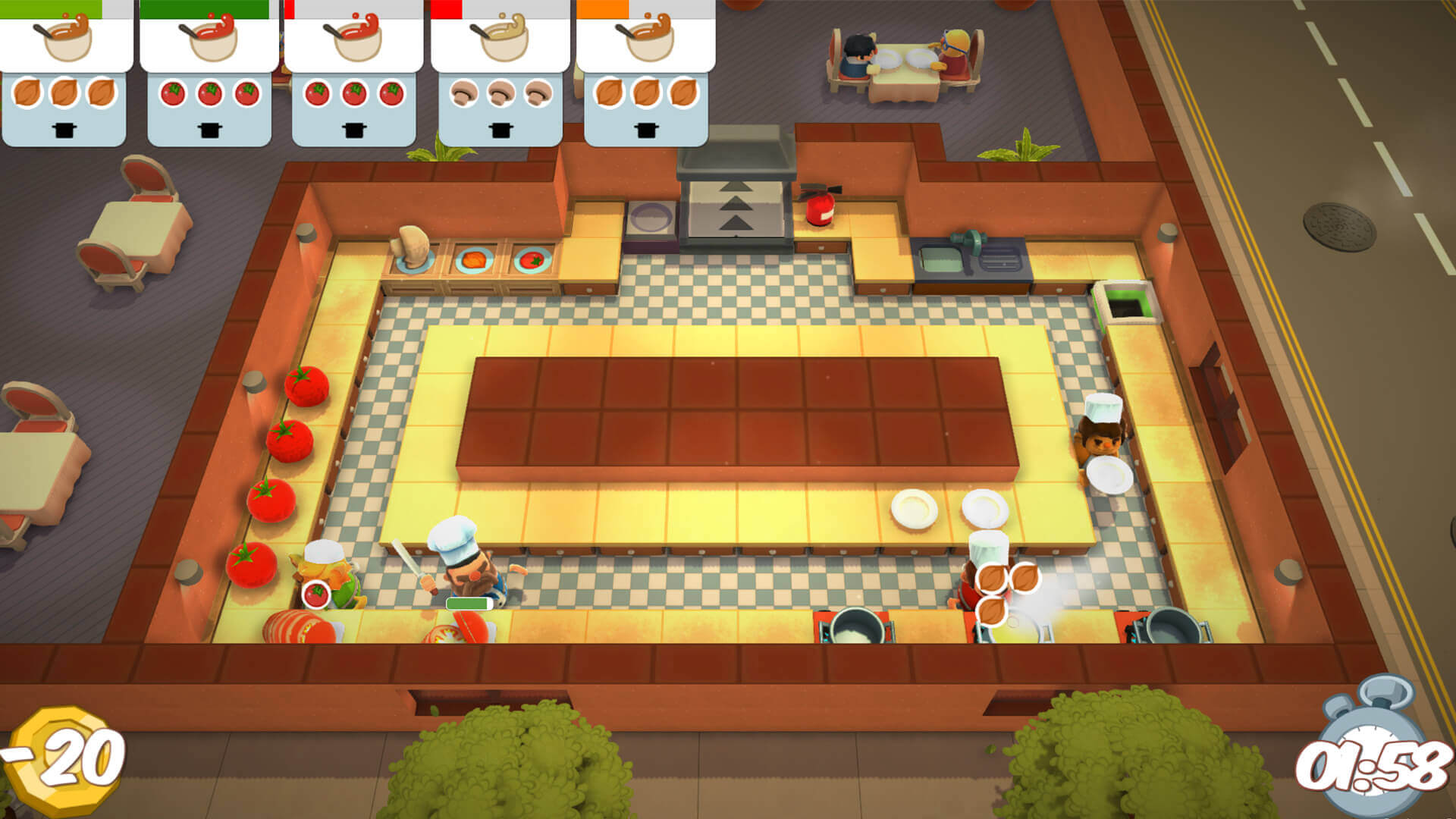 Overcooked - Crazy Co-op Cooking Action!