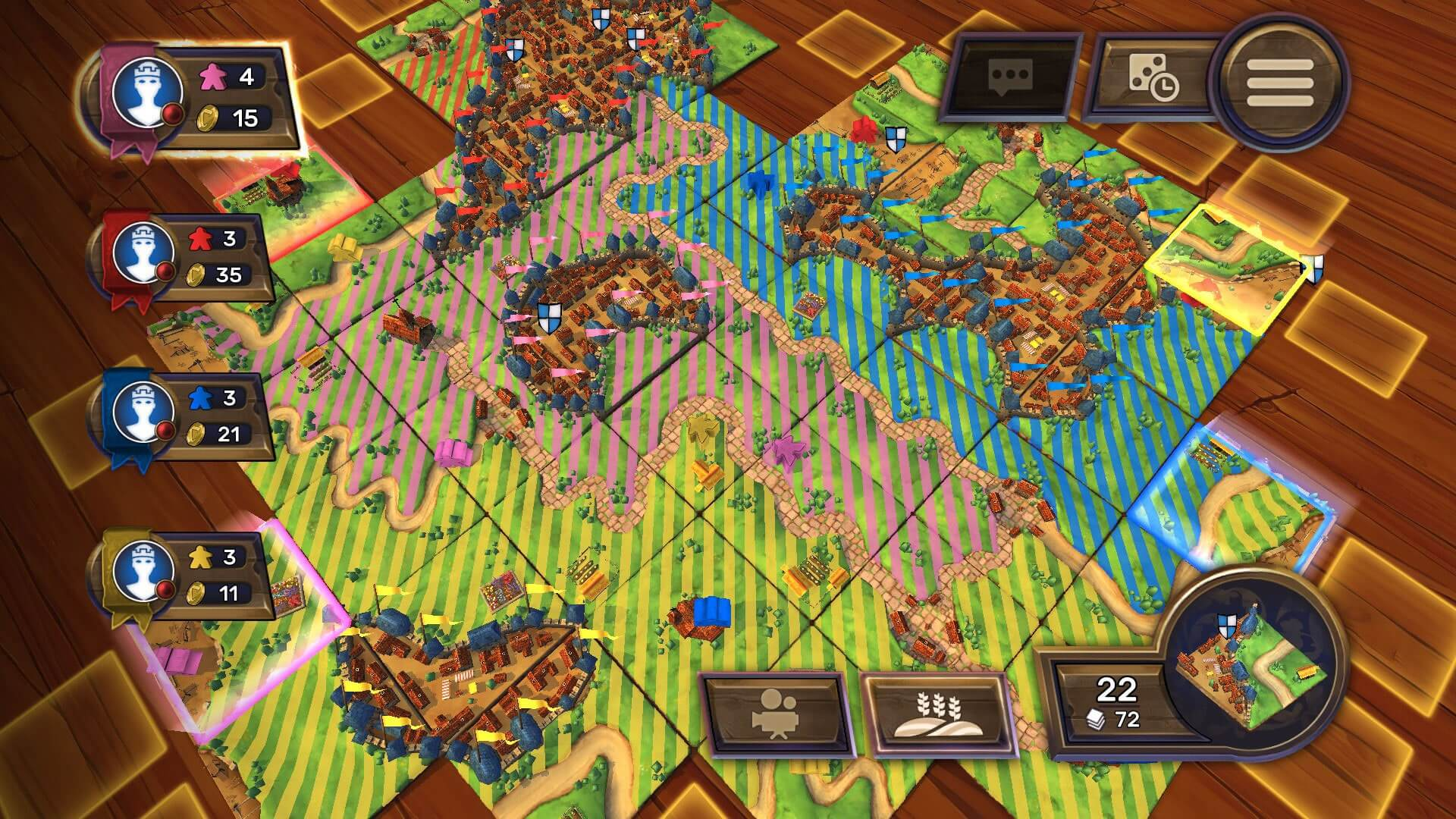 Play Carcassonne Board Game Online