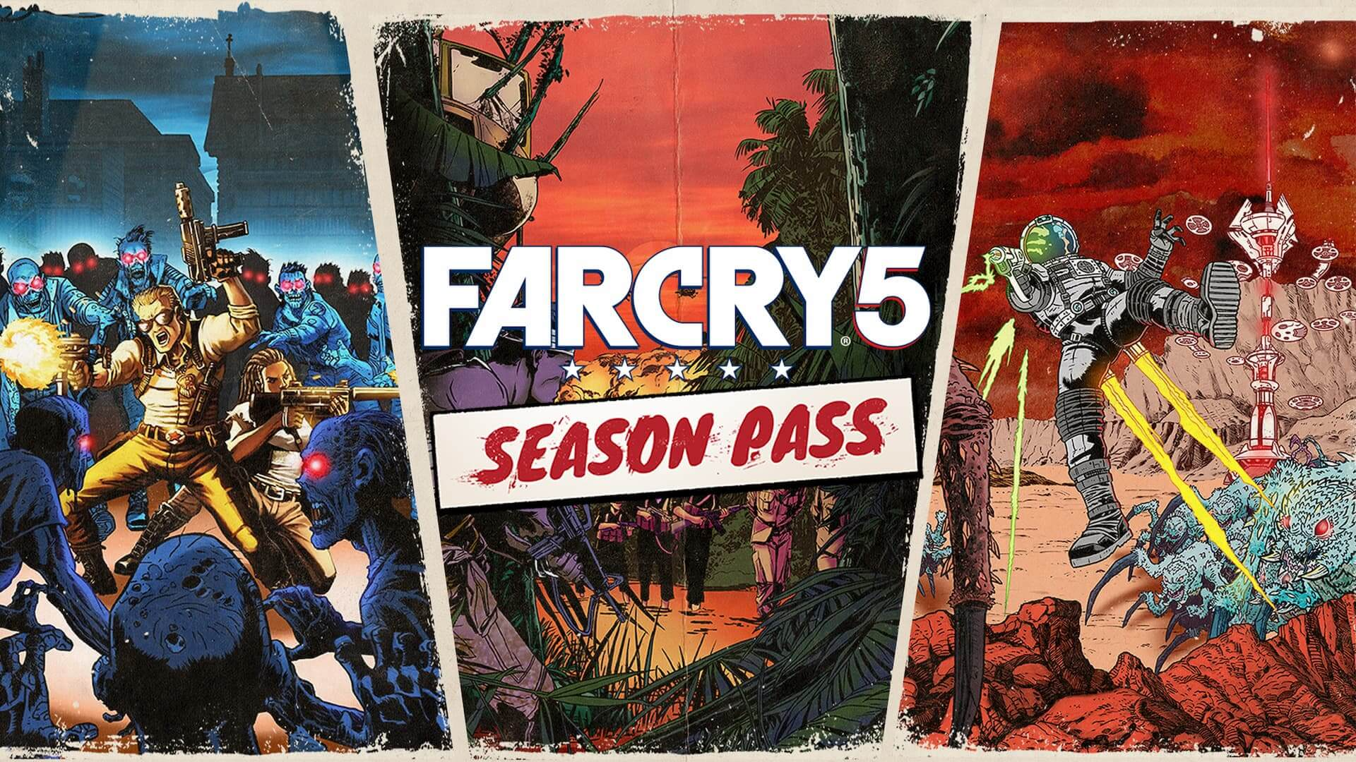 Far Cry 5 Season Pass - Lost On Mars, Hours of Darkness and Dead Living Zombies