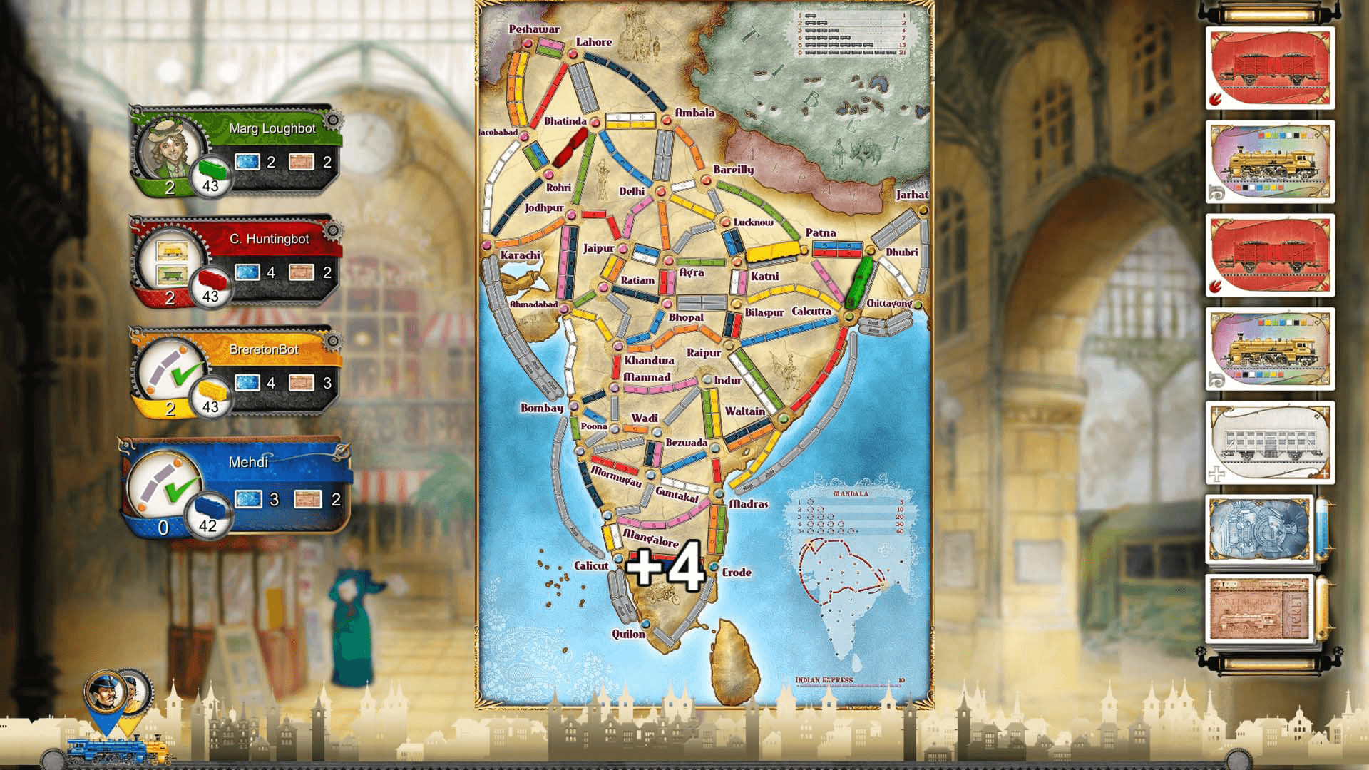 Ticket to Ride India Expansion DLC