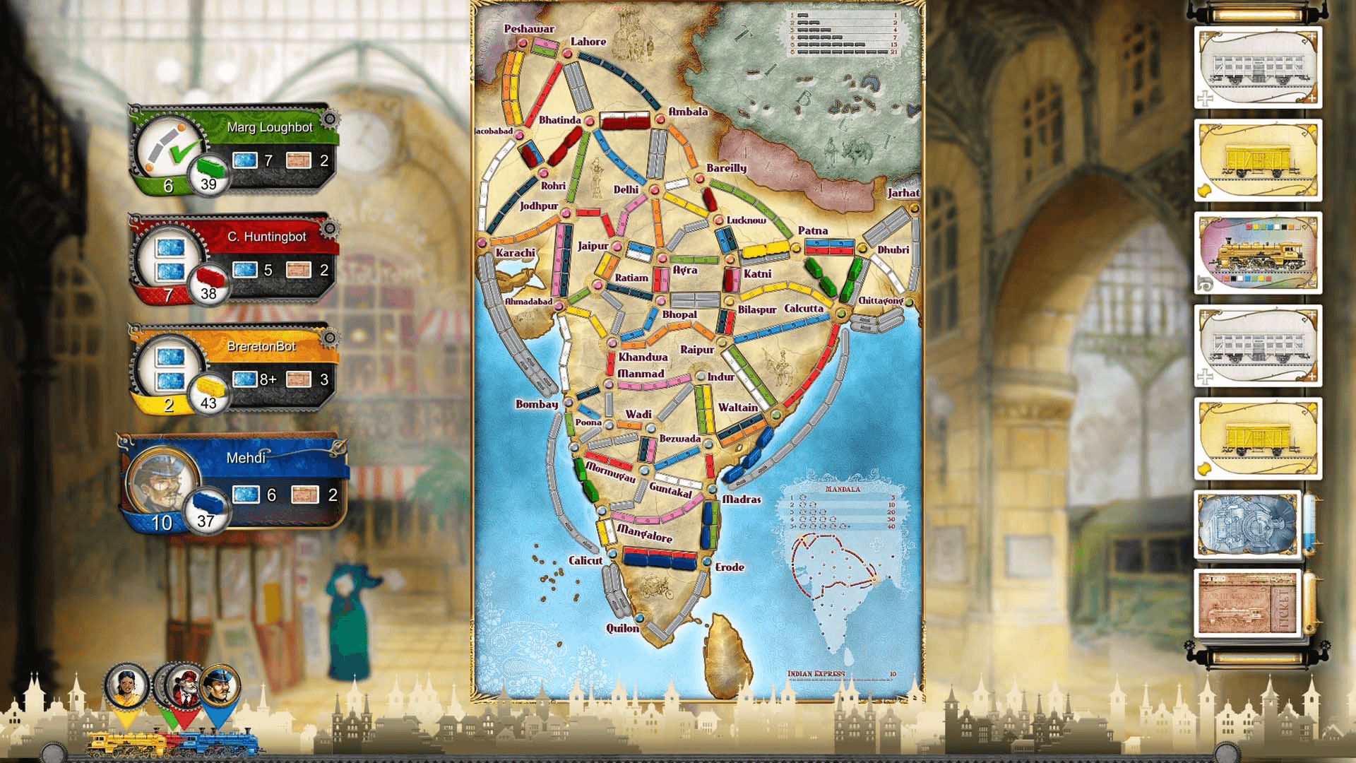 Ticket to Ride India Expansion DLC for PC