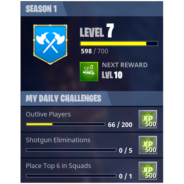 daily challenges png - daily challenges fortnite today
