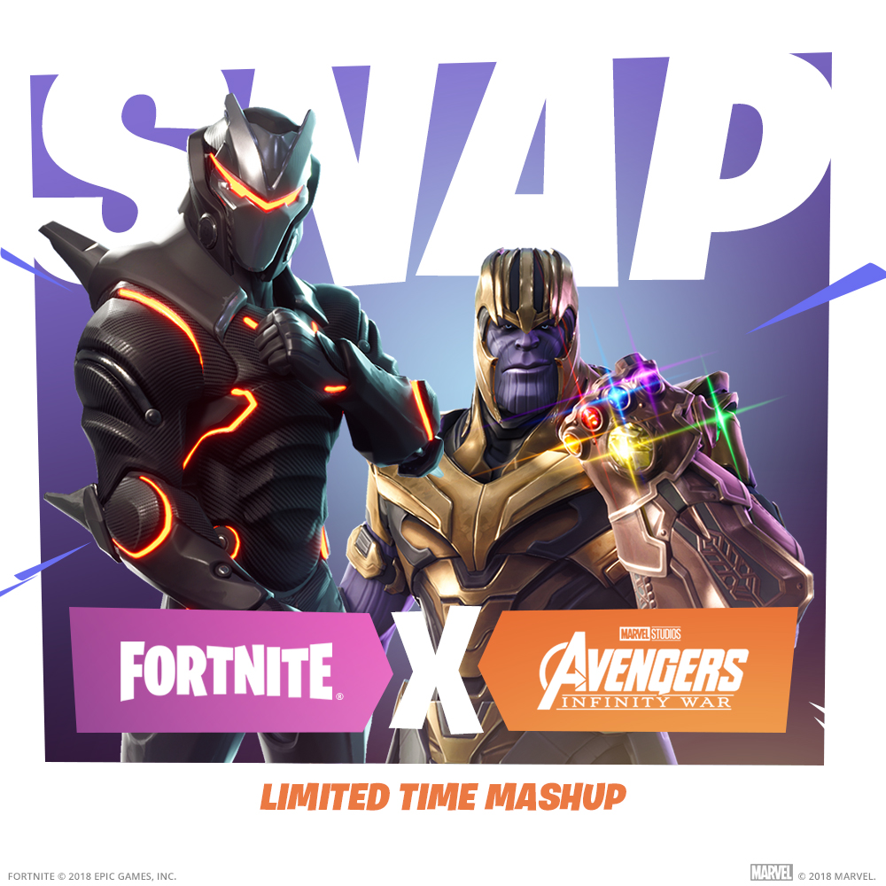 Thanos jumps in Fortnite in exclusive crossover
