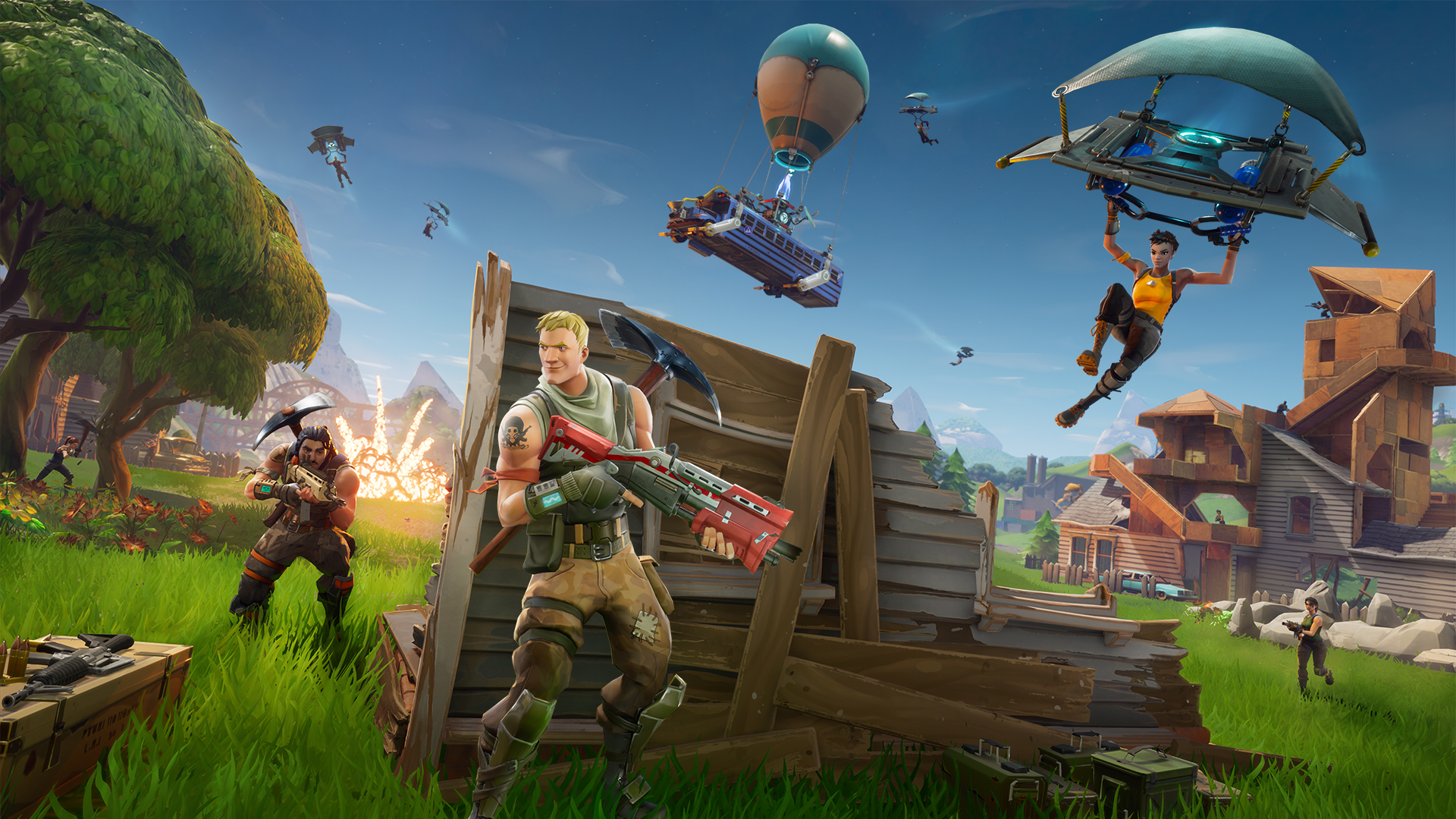 Fortnite runs at 1728p resolution on Xbox One X compared to