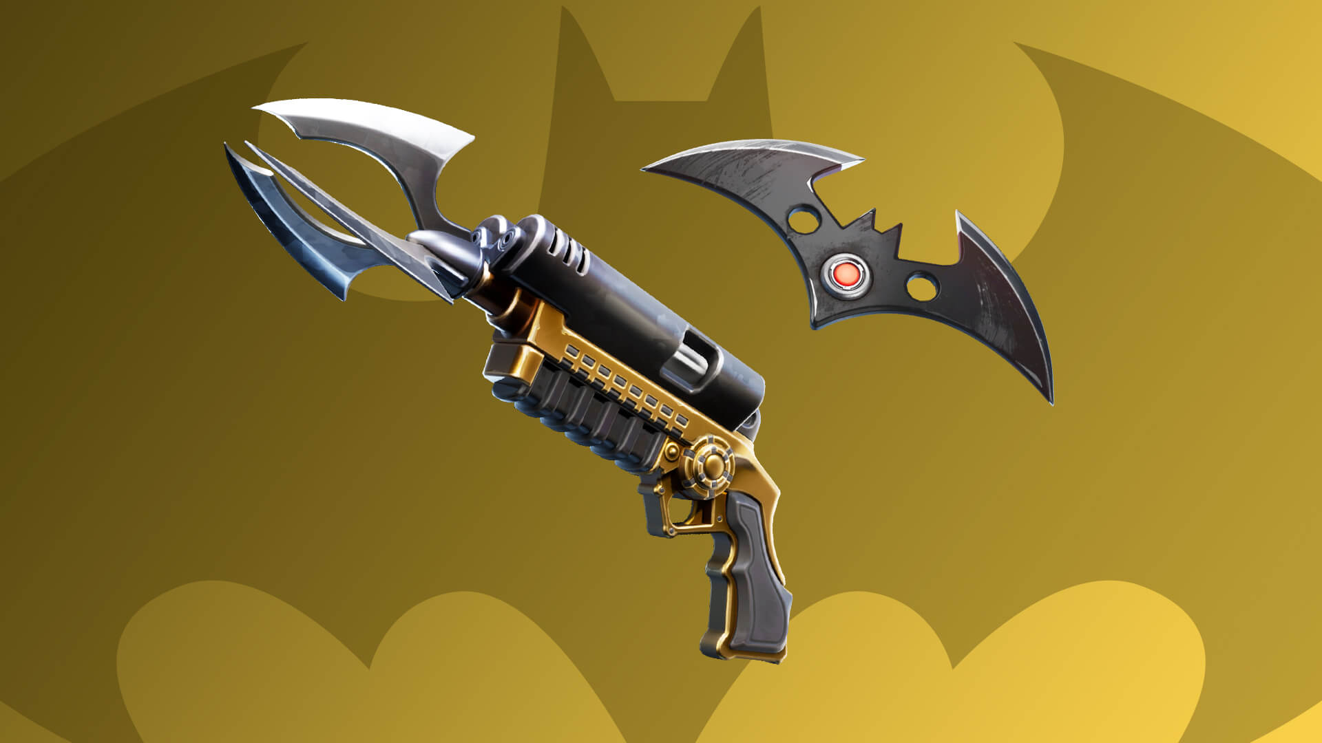 Fortnite Batman Grapple Gun and Batarang