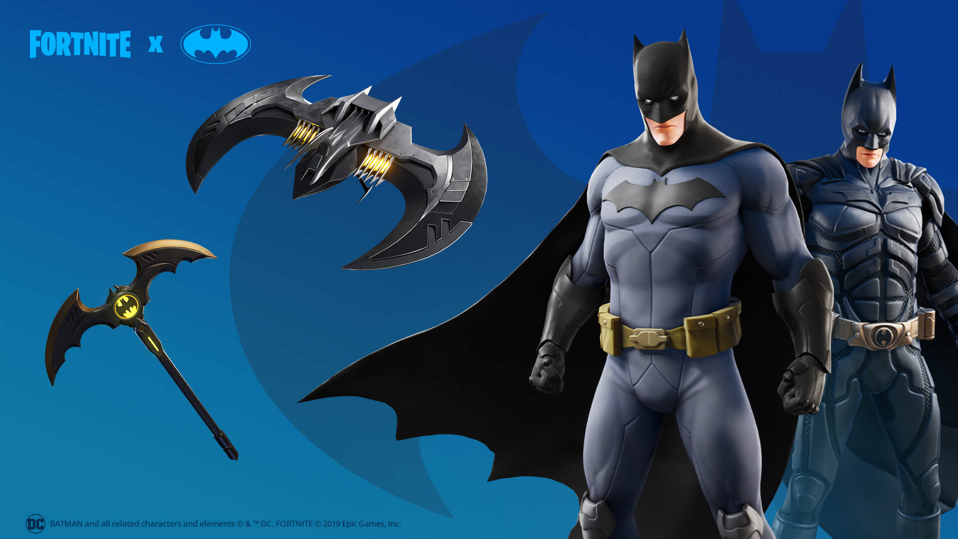 Fortnite Batman Glider and Pickaxe