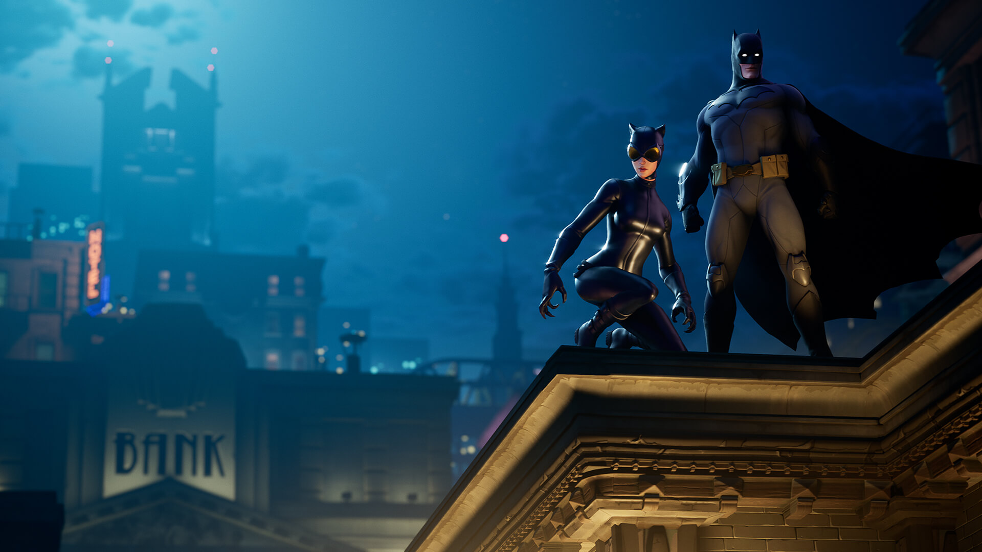 Batman and Catwoman in Fortnite