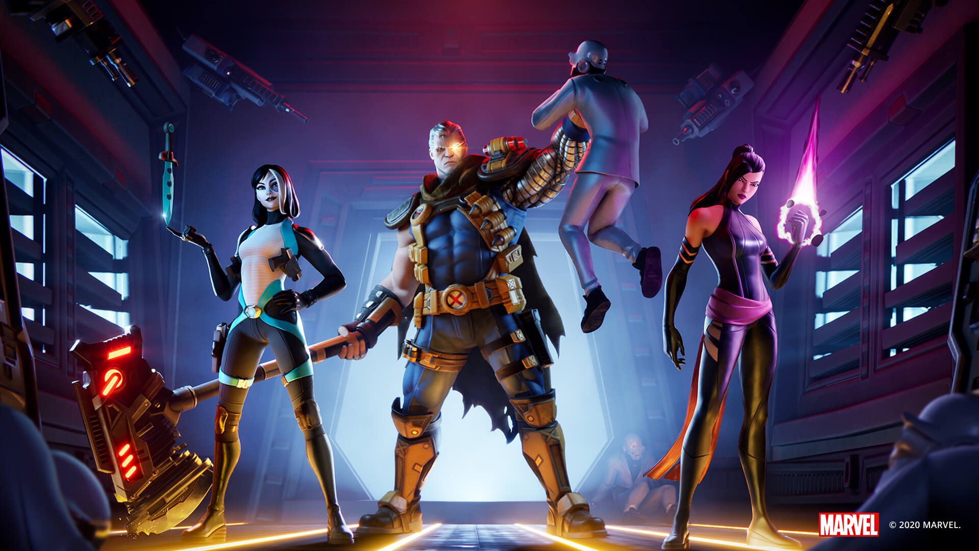 Cable, Psylocke and Domino Join Deadpool in Fornite - X-Force