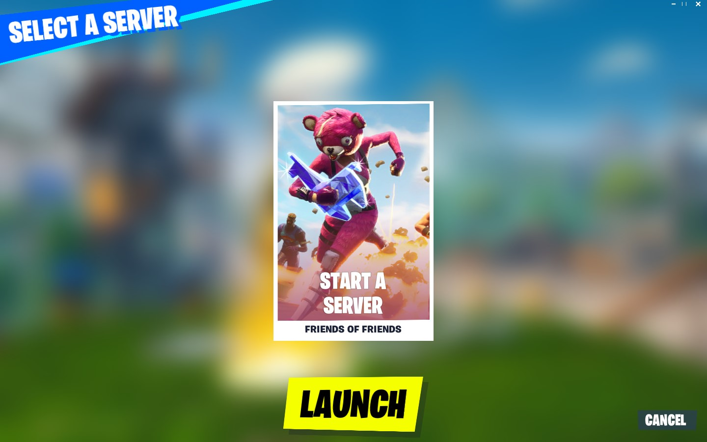 Start a Fortnite Creative Server