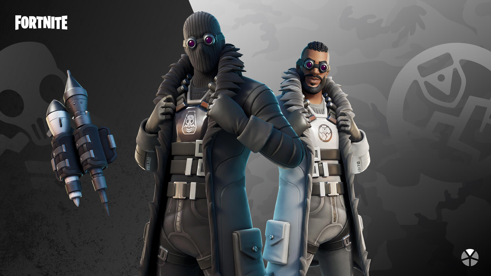 Fortnite Renegade Shadow Outfit and Blast Radius Back Bling