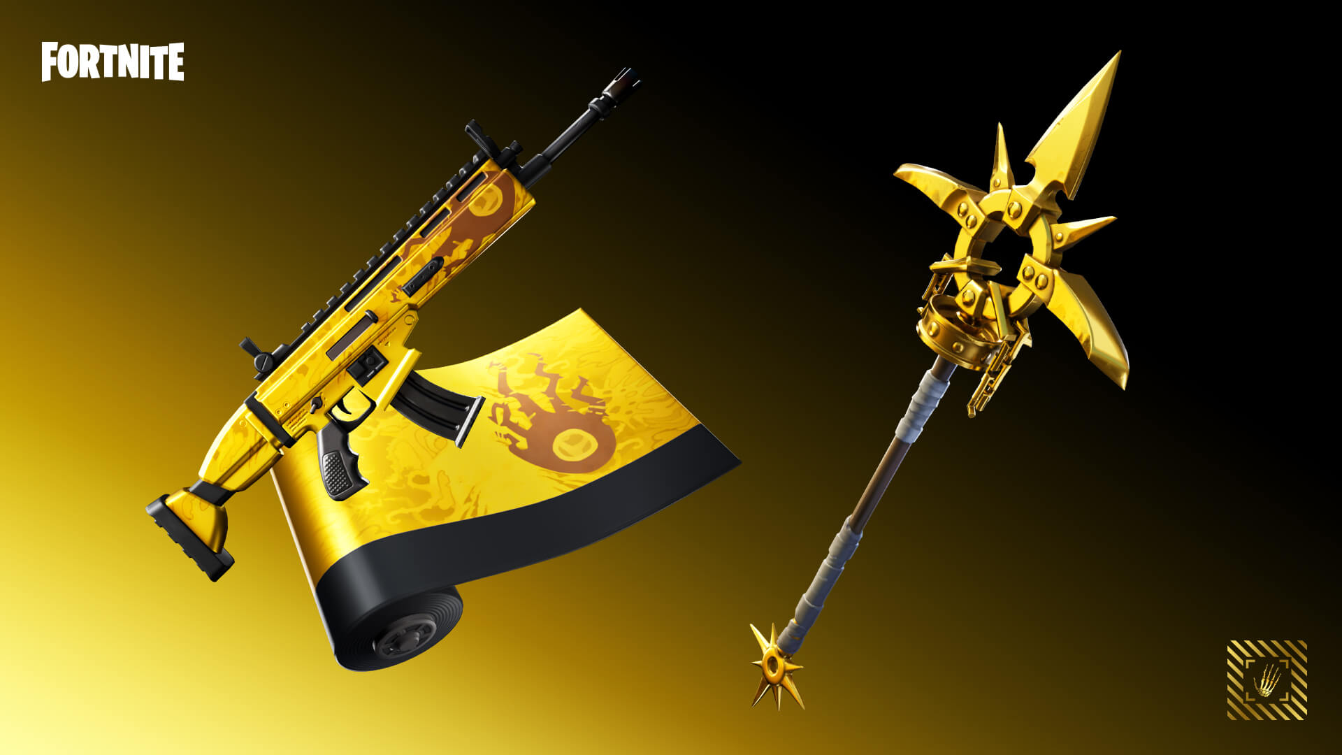 Fortnite Oro Pickaxe and Wrap Challenge