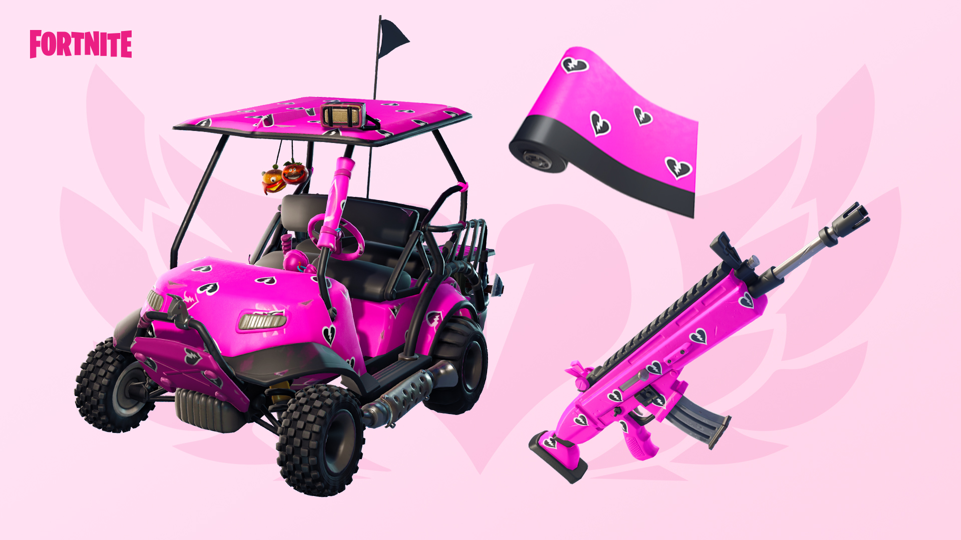 Image of the Fortnite Cuddle Hearts wrap.