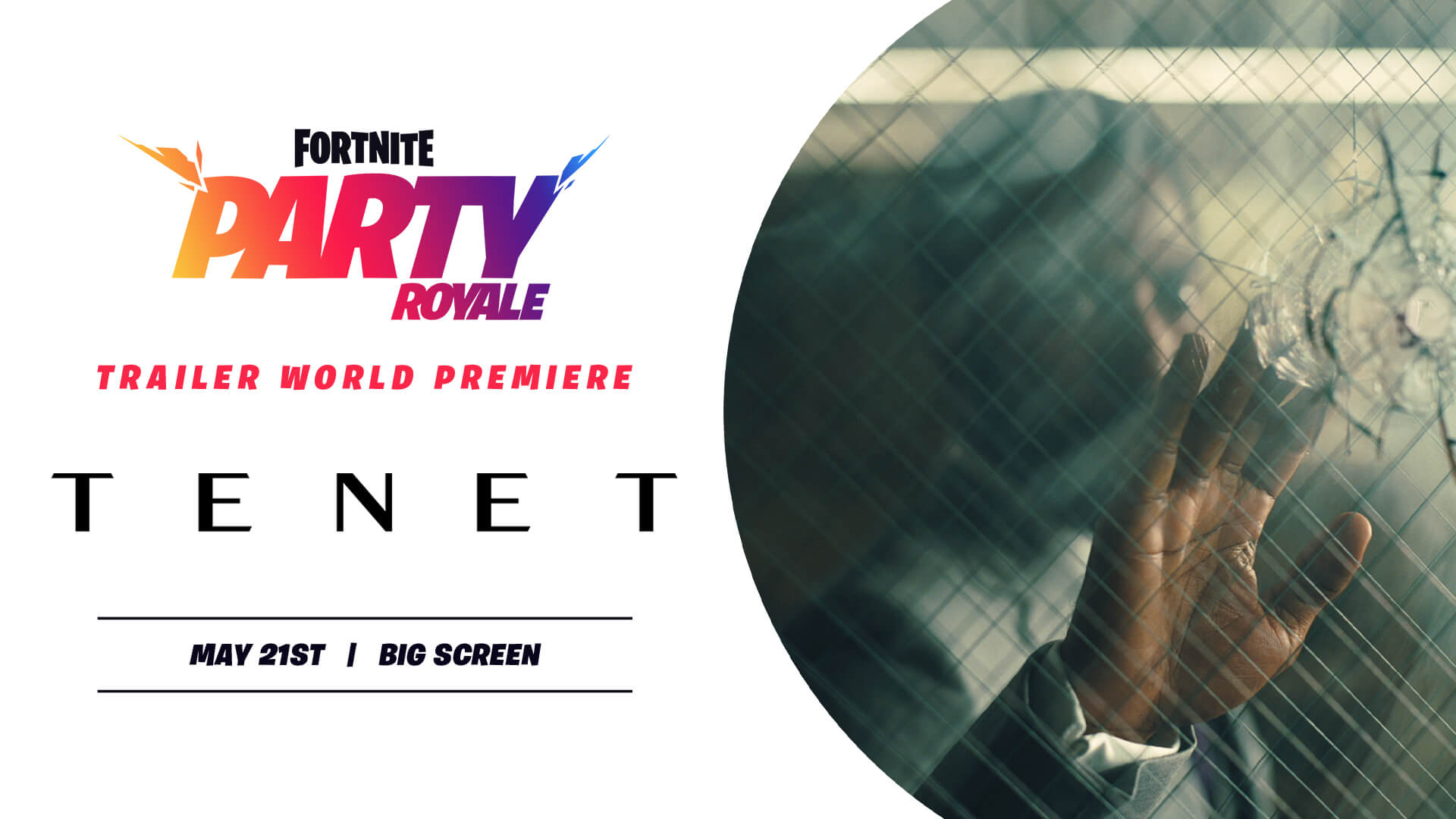 Tenet Trailer in Fortnite Party Royale
