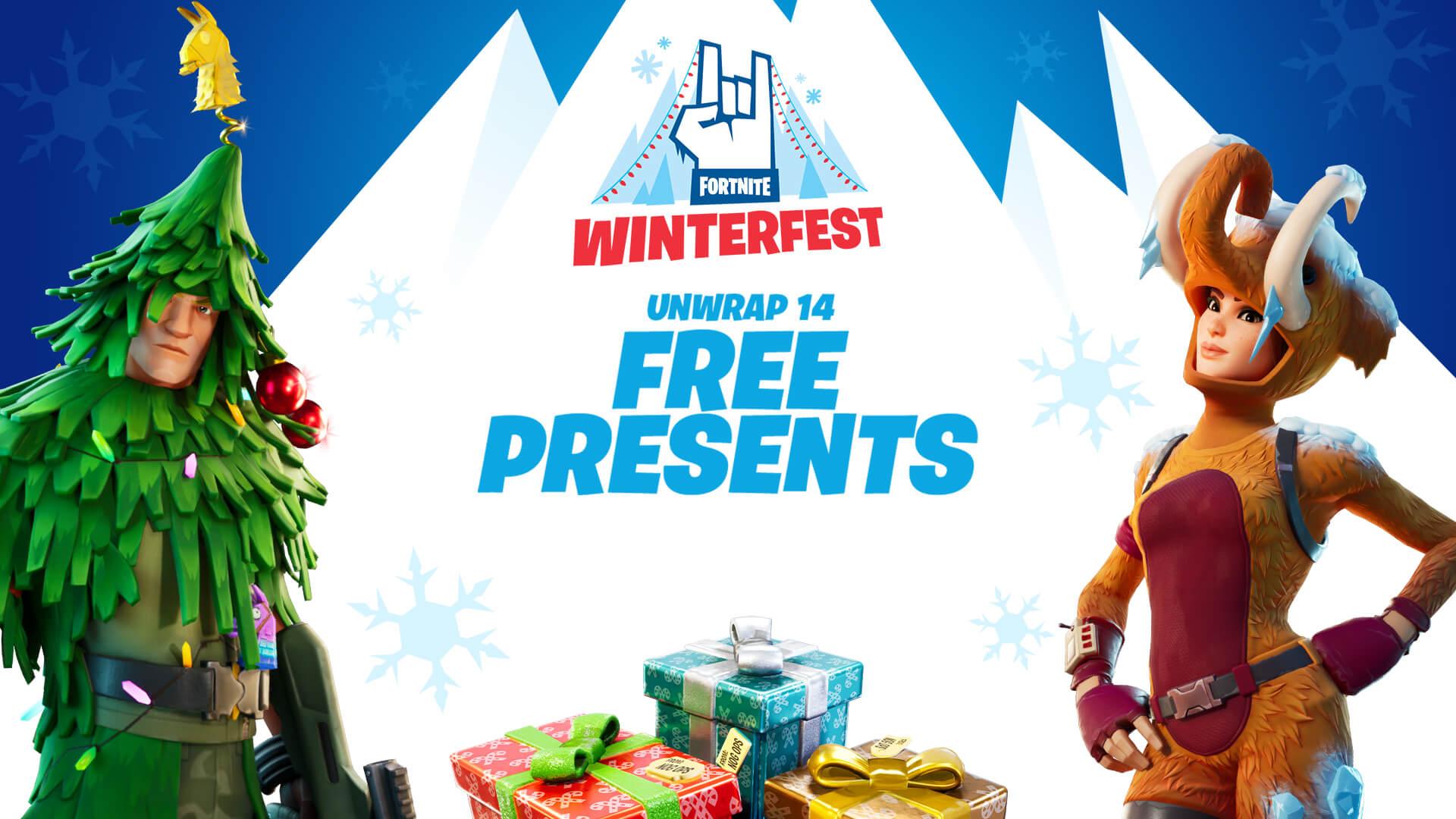 Fortnite Winterfest Presents