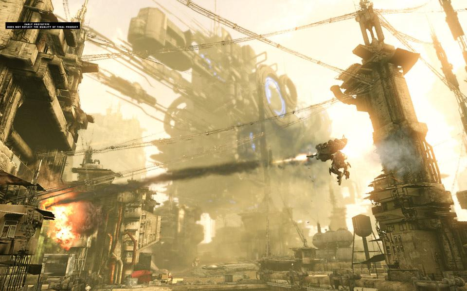 Hawken is a multiplayer mech combat game, built with UDK