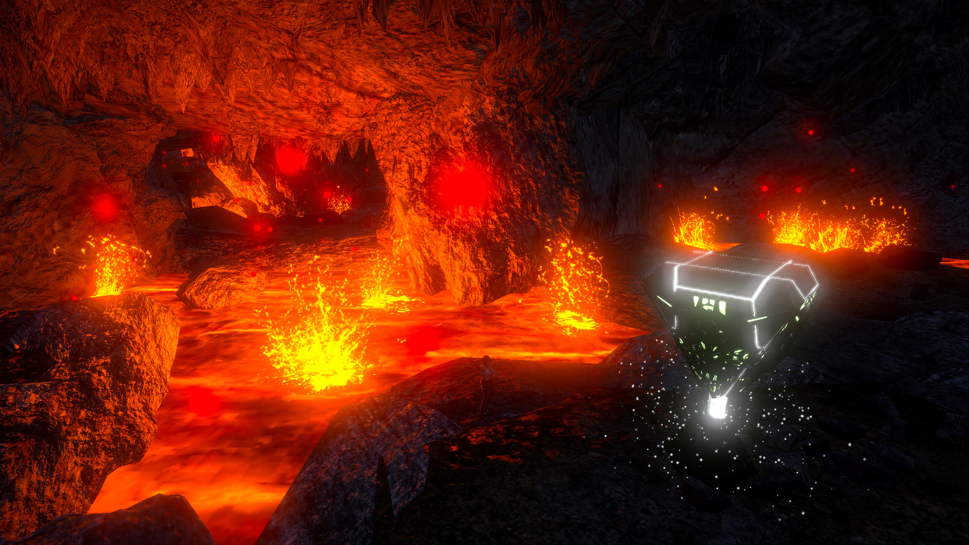 Ark Mobile Lava Cave Map