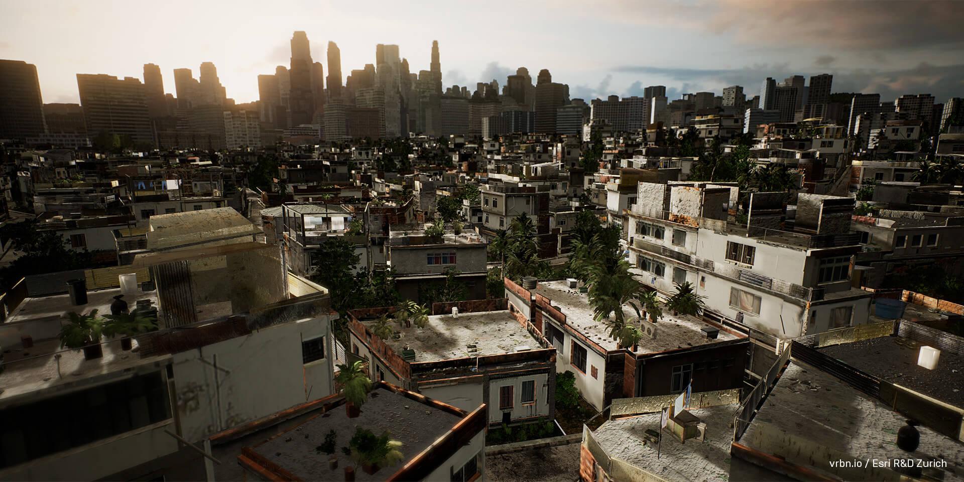 Unreal Studio と CityEngine が作り出すリアルな街並み