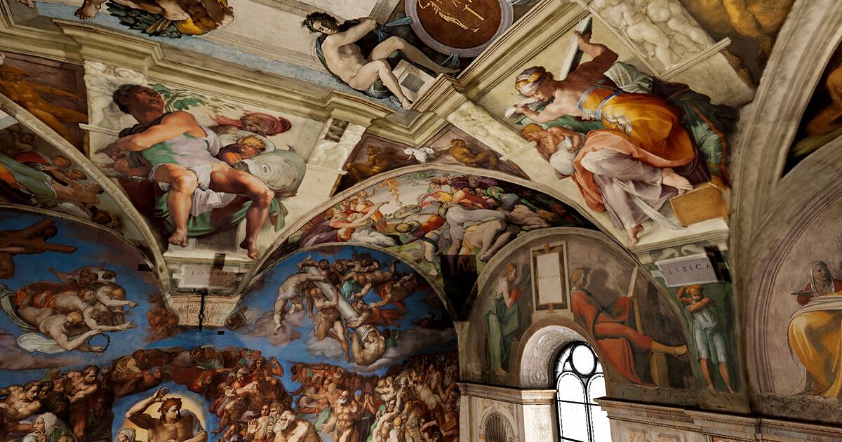 Explore the Sistine Chapel, exclusively at SIGGRAPH 2019