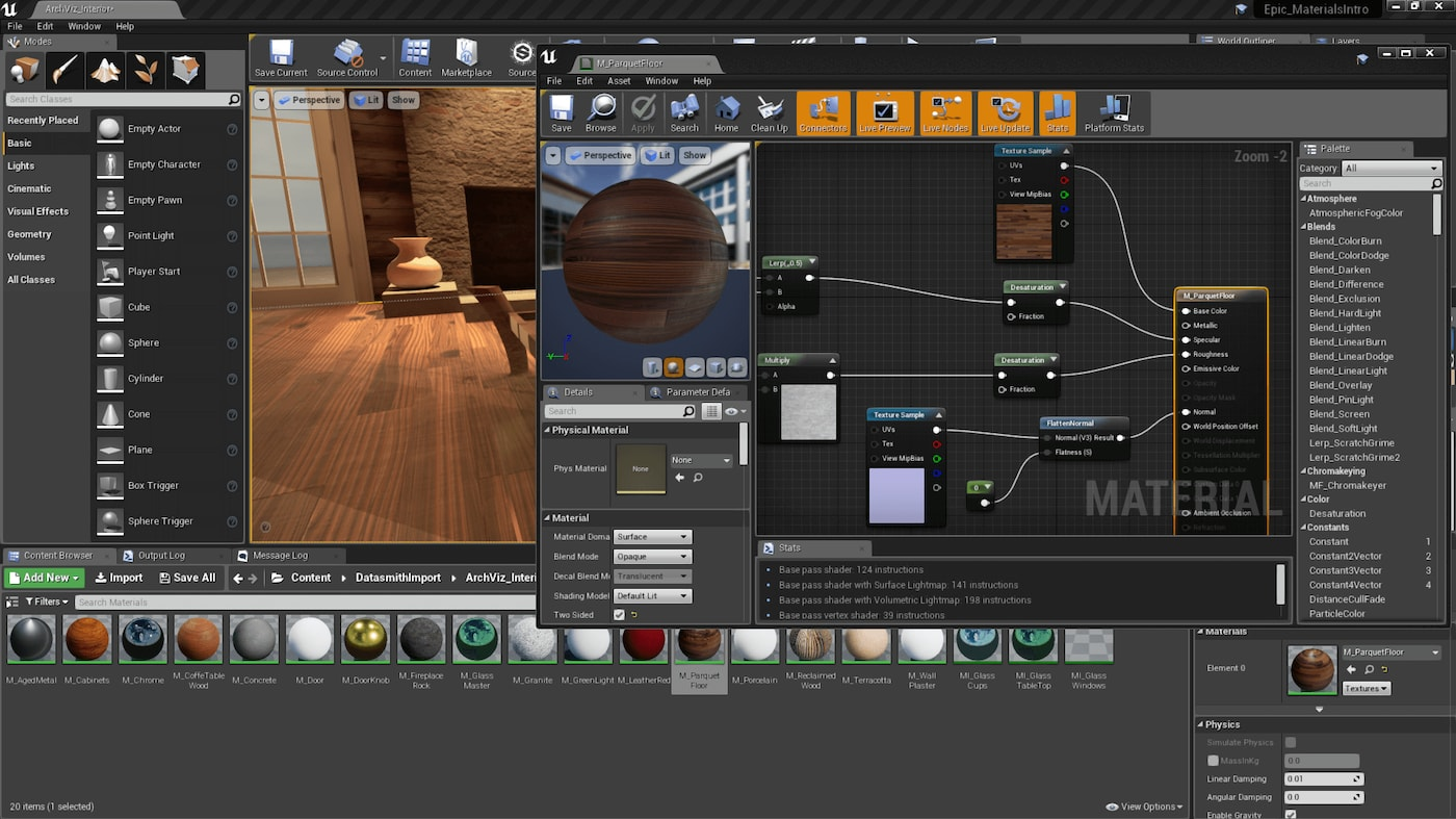 Adding Detail Textures Unreal Engine Documentation
