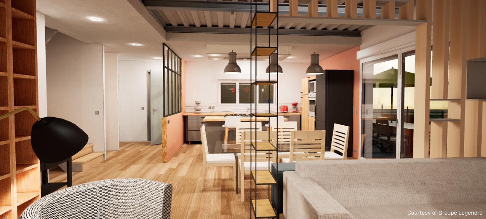 Nouveau architectural visualization: VR walkthroughs with