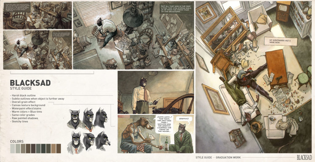 Blacksad breakdown: Howest student creates a playable 3D comic in UE4