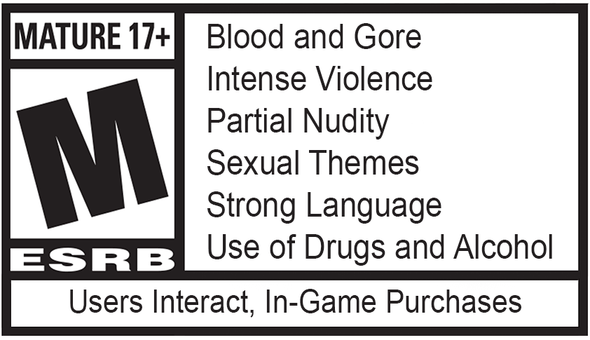 Game rated MATURE 17 +