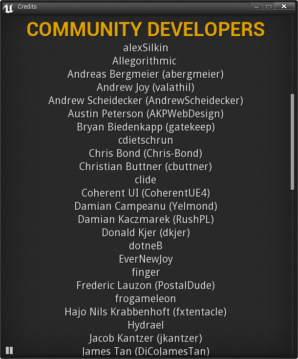 Thank You Community Developers!