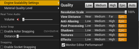 Scalability in Editor