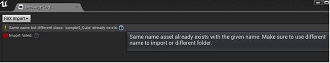 FBX Import Errors