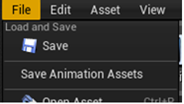 Save All Animation Assets