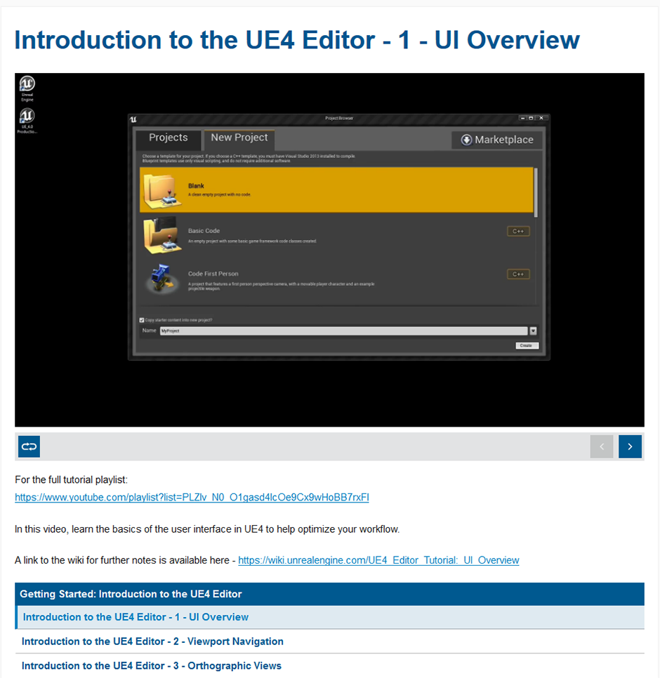 Introduction to The UE4 Editor
