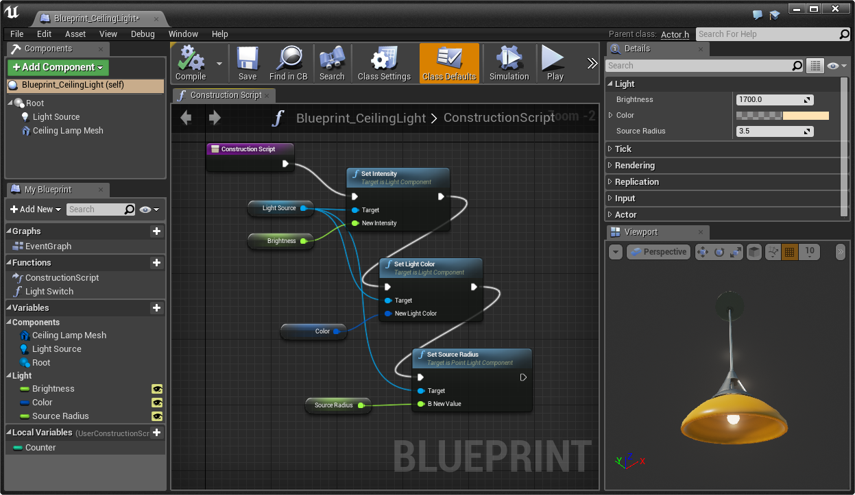 Redesigned Blueprint Editor UI