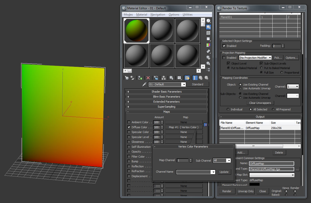 Tips for Rendering UV images from 3D Studio Max Models
