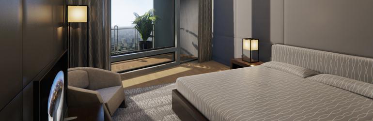 没入型不動産販売センター (Unreal Engine 4で制作中) - ベッドルーム2