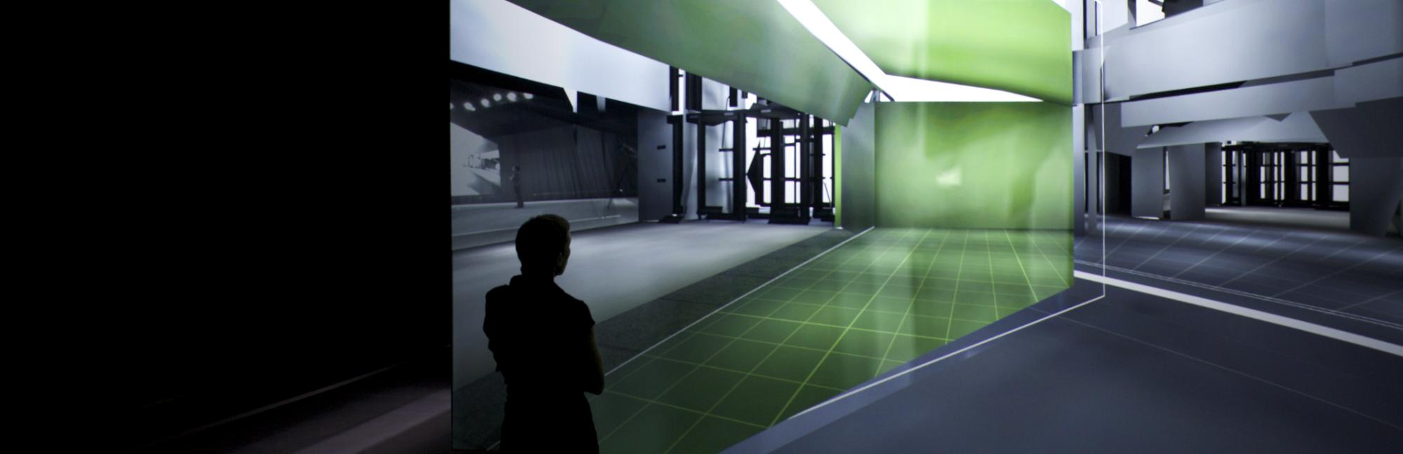 (Realtime Unreal - Installation at the Musée d'art contemporain de Montréal, 2011.