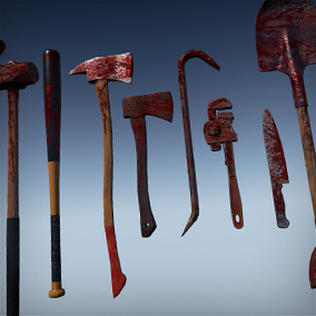 Zombie Melee Weapons by Jeong Seong-Kyo
