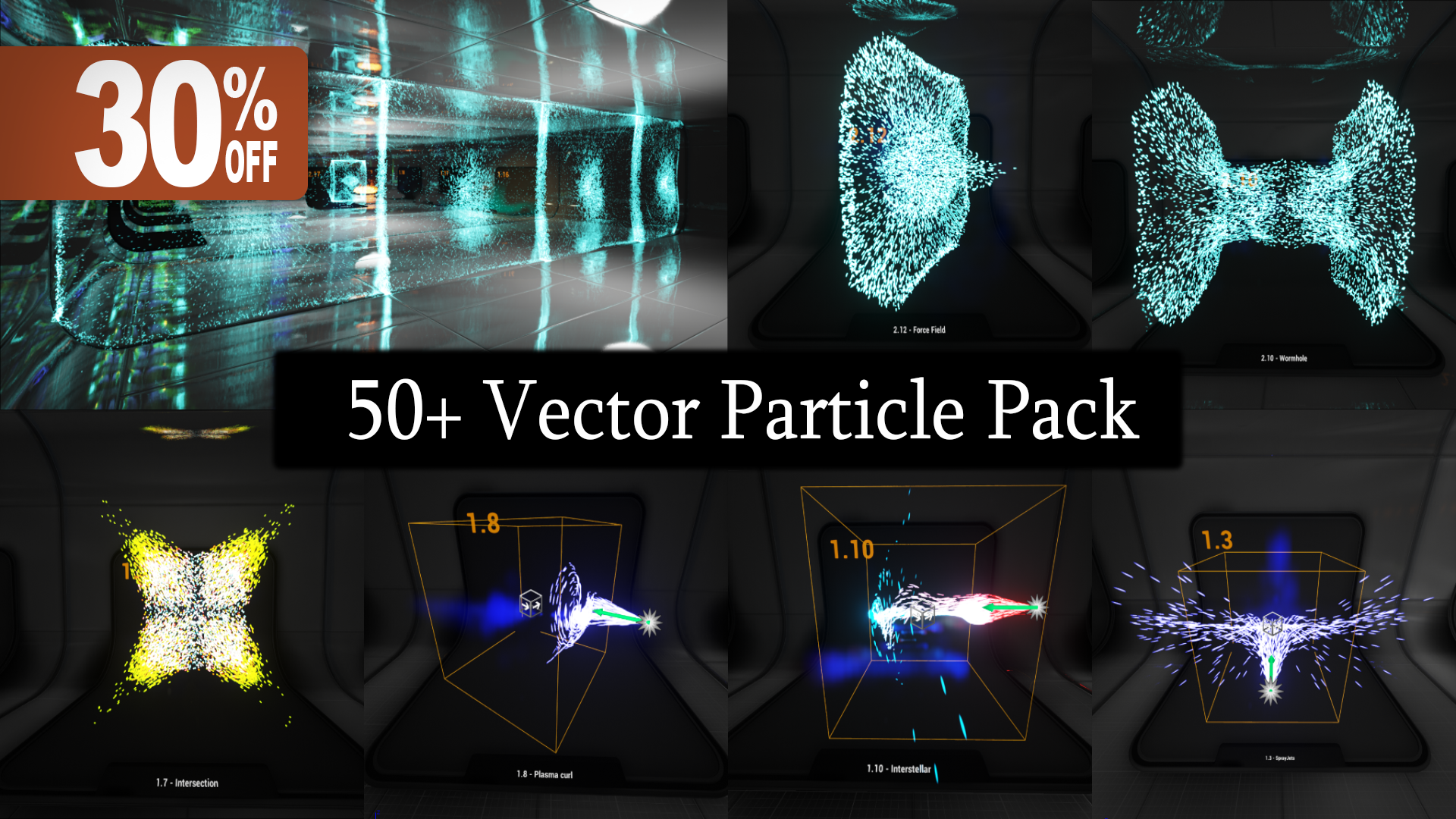 50+ Vector Particles by W3 Studios