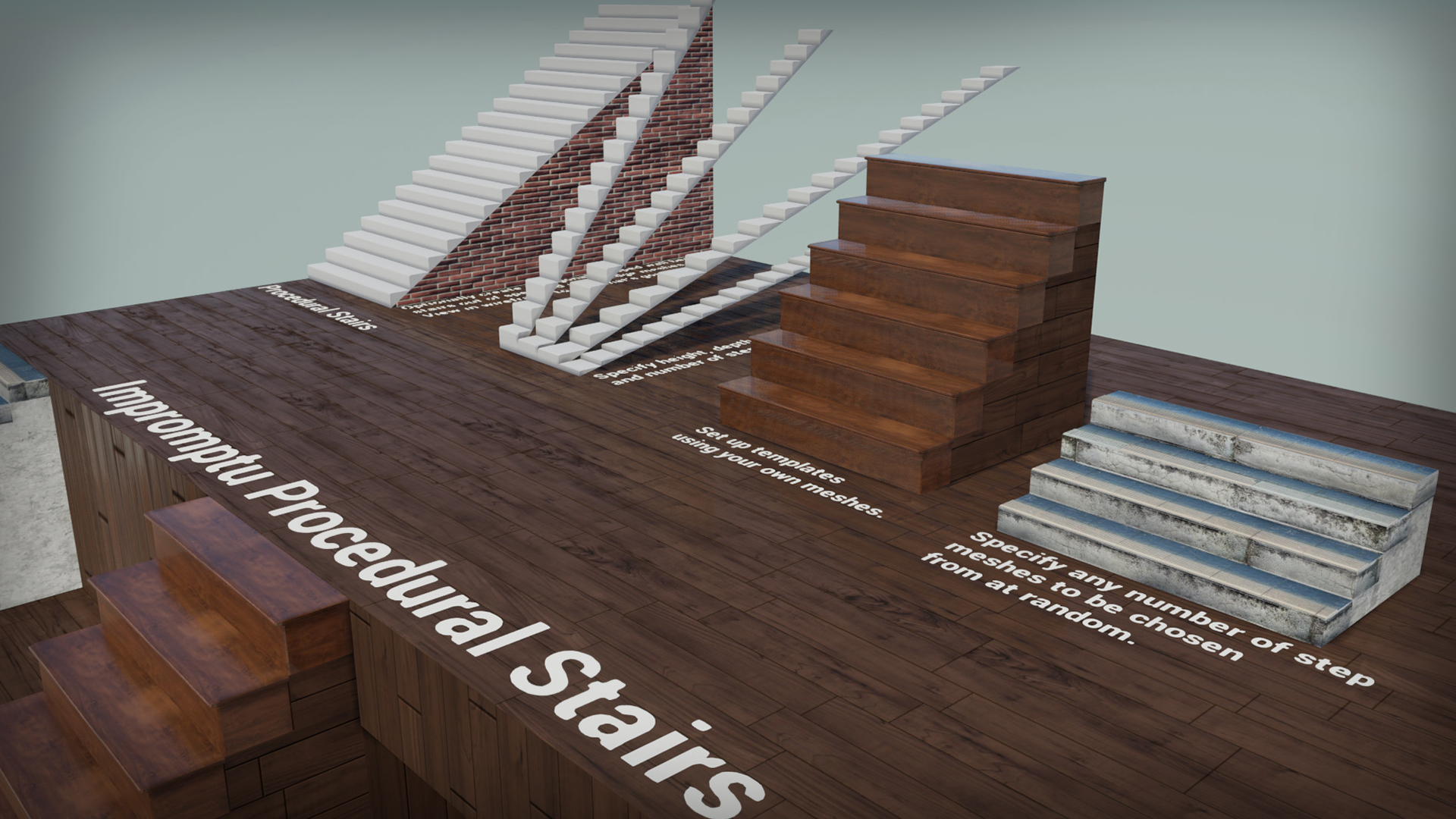 Impromptu Games による Impromptu Procedural Stairs